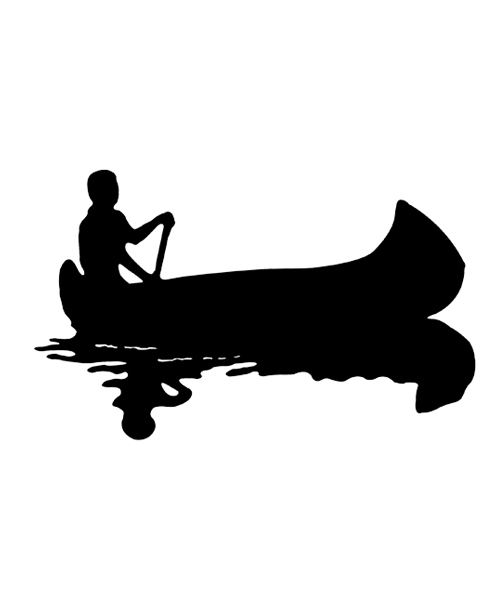 Canoe Silhouette Decals And Stickers By Saber Tooth Co