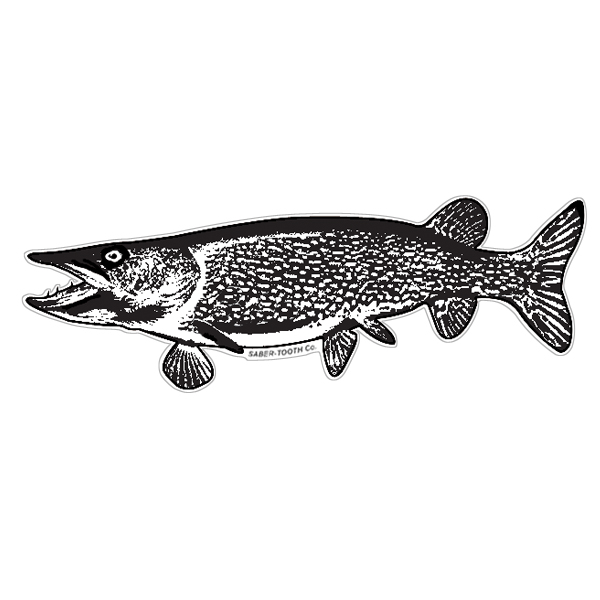 Northern Pike Silhouette Decals Saber Tooth Co